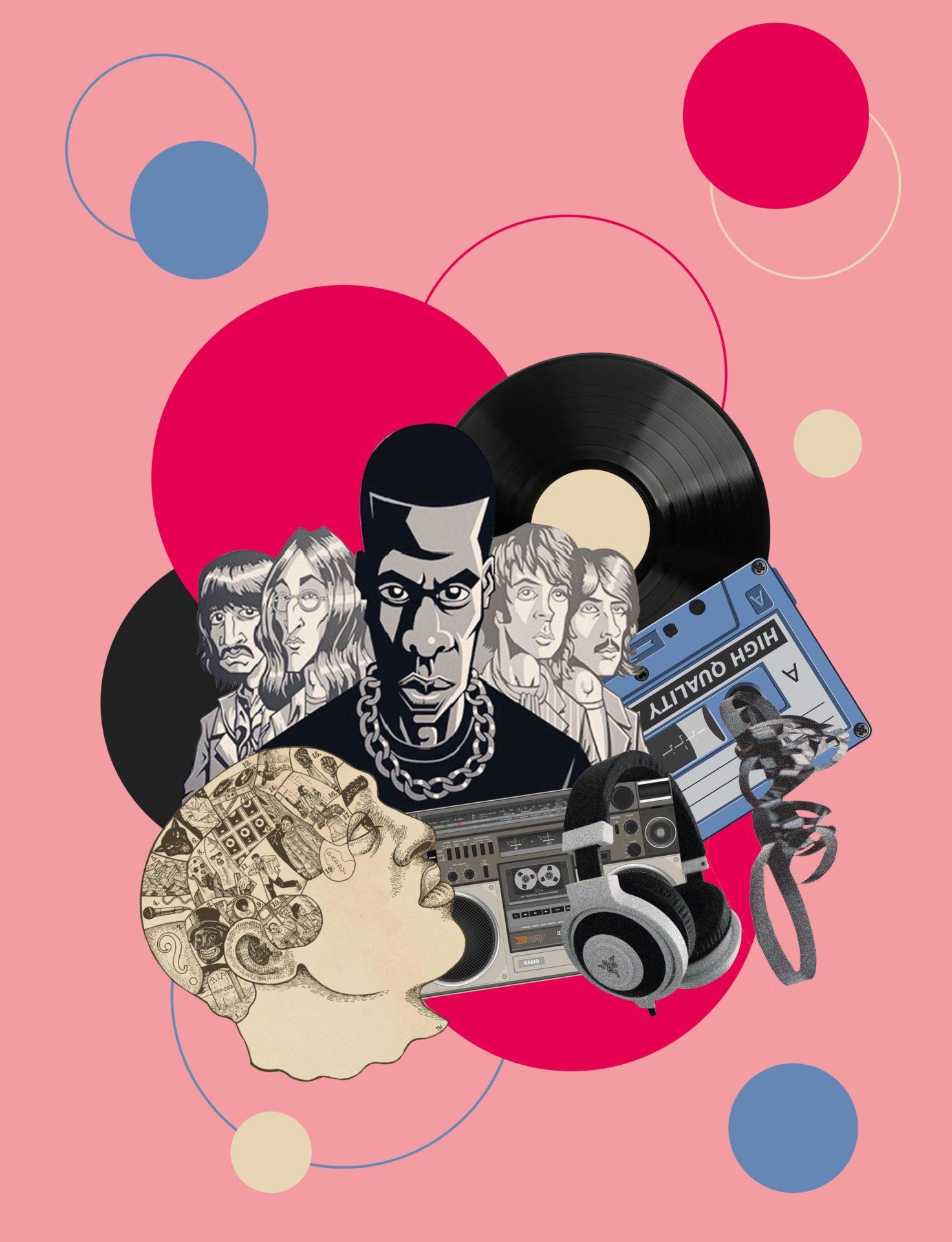 Illustration par Julia Borel pour le dossier rap-pop de Magic